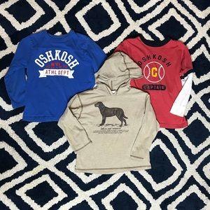 Oshkosh Boys Size 6 Long sleeved Shirt Bundle